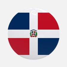 Dominican Republic Flag Round Ornament