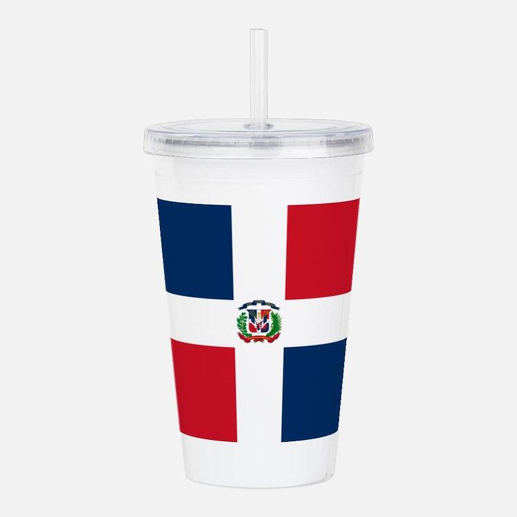 Dominican Republic Flag Acrylic Double-wall Tumble