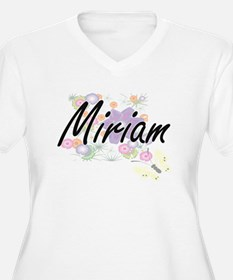 Miriam Artistic Name Design with Plus Size T-Shirt