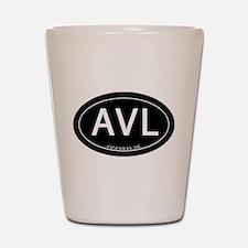 Asheville NC AVL Shot Glass