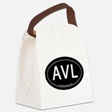 Asheville NC AVL Canvas Lunch Bag