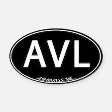 Asheville NC AVL Oval Car Magnet