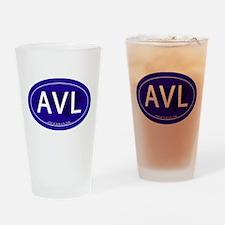 Asheville NC Blue AVL Drinking Glass