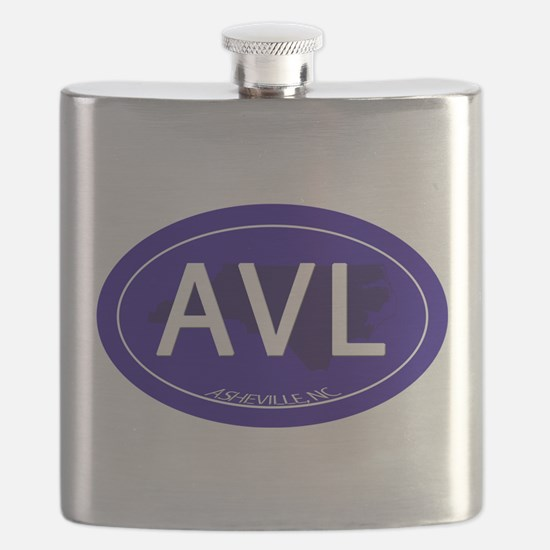 Asheville NC Blue AVL Flask