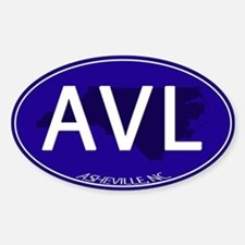 Asheville NC Blue AVL Decal