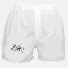 Monique Artistic Name Design with Flo Boxer Shorts