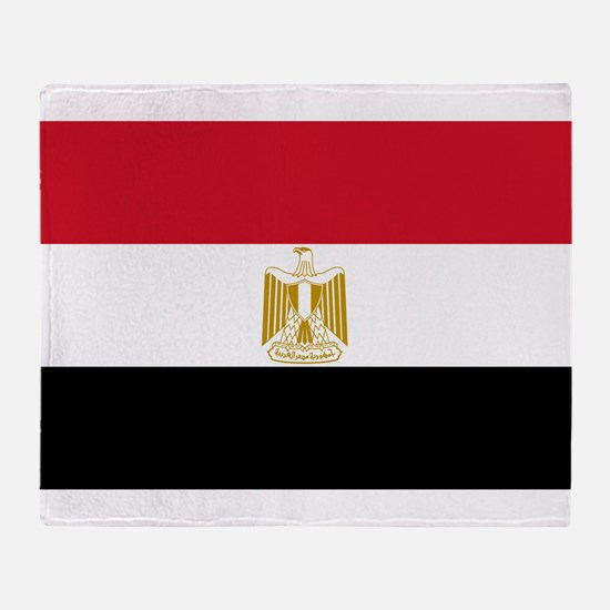 Egypt Flag Throw Blanket