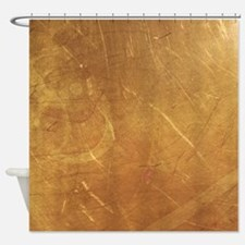 Streaked Gold Foil Shower Curtain
