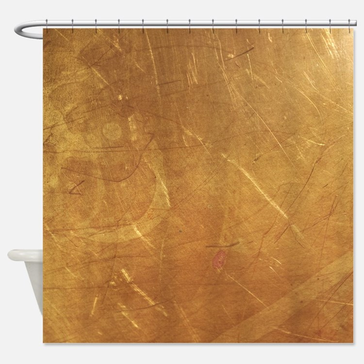 Streaked Gold Foil Shower Curtain