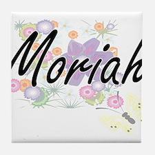 Moriah Artistic Name Design with Flow Tile Coaster