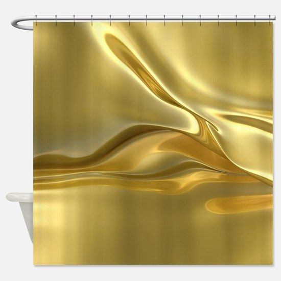 Swirled Gold Foil Shower Curtain