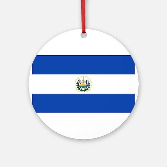 El Salvador Flag Round Ornament