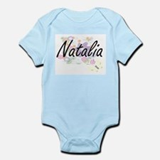 Natalia Artistic Name Design with Flower Body Suit