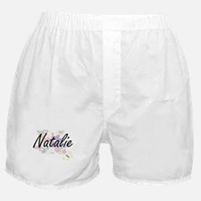 Natalie Artistic Name Design with Flo Boxer Shorts