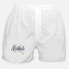 Nichole Artistic Name Design with Flo Boxer Shorts