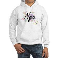Nya Artistic Name Design with Fl Hoodie Sweatshirt