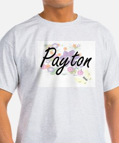 Payton Artistic Name Design with Flowers T-Shirt
