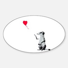 Meerkat with the heart-shaped balloon - Va Decal