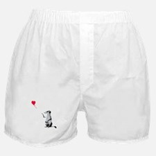 Meerkat with the heart-shaped balloon Boxer Shorts