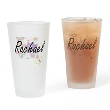 Rachael Artistic Name Design with F Drinking Glass