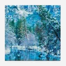 Snowy Reflections Tile Coaster