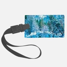 Snowy Reflections Luggage Tag