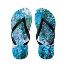 Snowy Reflections Flip Flops