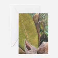 TROPICAL PORCH VIEW Greeting Cards