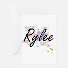 Rylee Artistic Name Design with Flo Greeting Cards