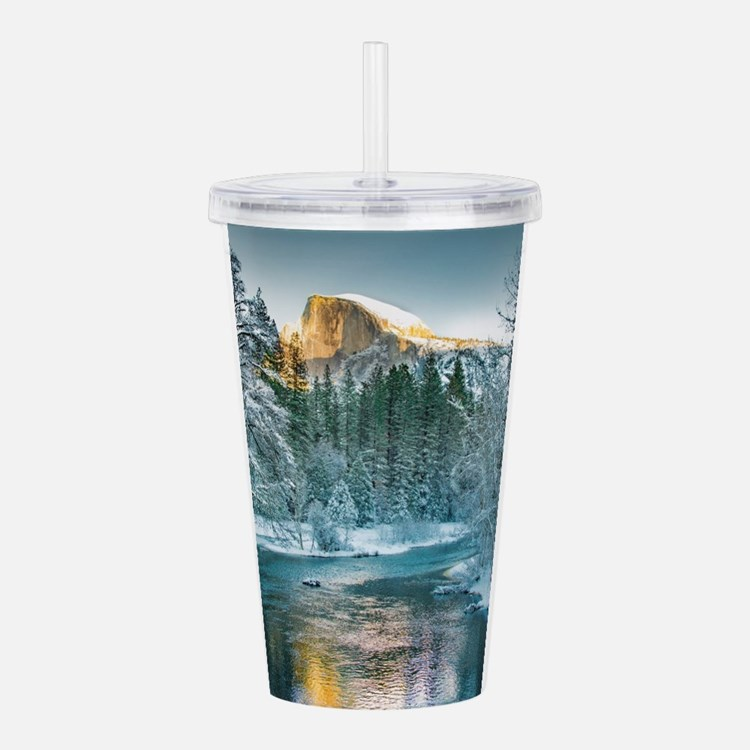 Half Dome in Winter Acrylic Double-wall Tumbler