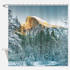 Half Dome in Winter Shower Curtain