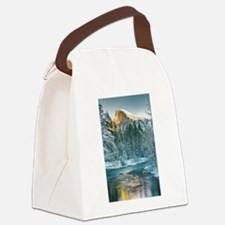 Half Dome in Winter Canvas Lunch Bag