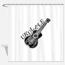 Ukulele Text And Image Shower Curtain