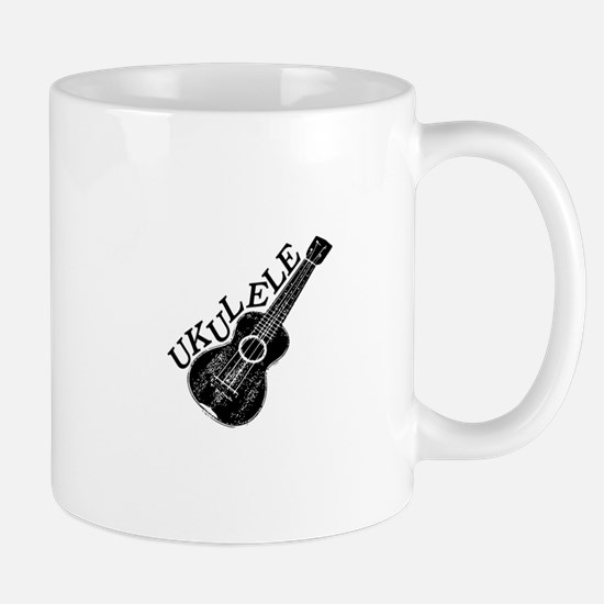 Ukulele Text And Image Mugs