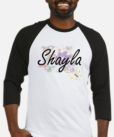 Shayla Artistic Name Design with F Baseball Jersey
