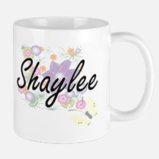 Shaylee Artistic Name Design with Flowers Mugs
