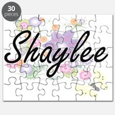 Shaylee Artistic Name Design with Flowers Puzzle