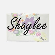 Shaylee Artistic Name Design with Flowers Magnets