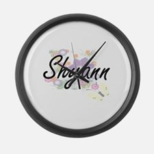 Shyann Artistic Name Design with Large Wall Clock