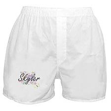 Skyler Artistic Name Design with Flow Boxer Shorts
