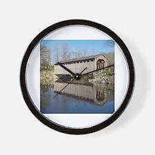 Unique Covered bridge Wall Clock