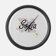 Sonia Artistic Name Design with F Large Wall Clock