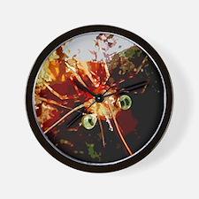 Red Night Shrimp Design Wall Clock