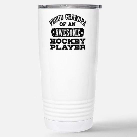 Hockey Grandpa Stainless Steel Travel Mug