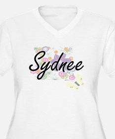 Sydnee Artistic Name Design with Plus Size T-Shirt