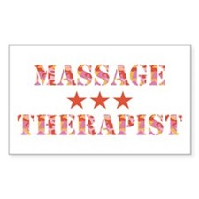 Camo Massage Therapist Rectangle Decal
