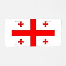 Georgia Flag Aluminum License Plate