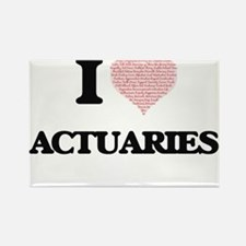 I love Actuaries (Heart made from words) Magnets