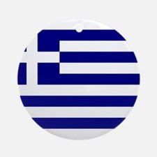 Greece Flag Round Ornament