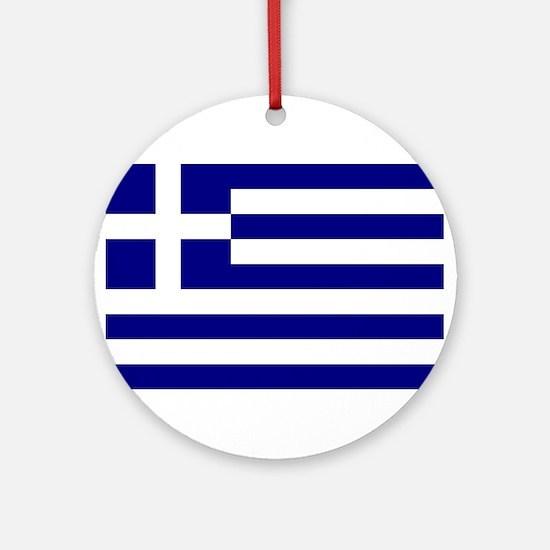 Greece Flag Round Ornament
